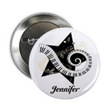 "Music star gold black 2.25"" Button"