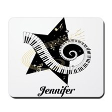 Music star gold black Mousepad