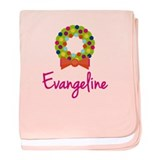 Christmas Wreath Evangeline baby blanket