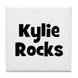 Kylie Rocks Tile Coaster