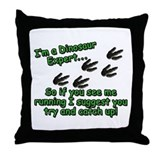 Cute Jurassic park Throw Pillow