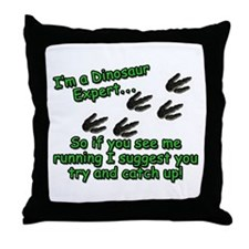 Cute Dinosaur footprint Throw Pillow