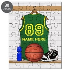 Personalized Basketball Green Puzzle