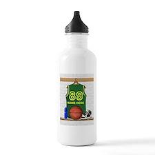 Personalized Basketball Green Water Bottle