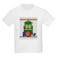 Personalized Basketball Green T-Shirt