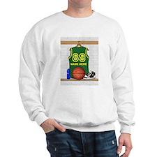 Personalized Basketball Green Sweatshirt