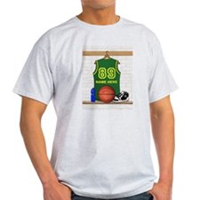 Personalized Basketball Green T-Shirt