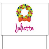 Christmas Wreath Juliette Yard Sign