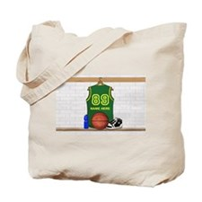 Personalized Basketball Green Tote Bag