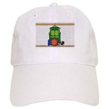 Personalized Basketball Green Baseball Cap