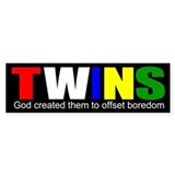 Twins offset boredom Bumper Stickers
