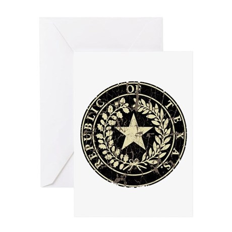 Republic of Texas Seal Distre Greeting Card