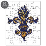 Enchanted Gold Fleur de lis Puzzle
