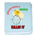 VOLLEYBALL CHICKS baby blanket