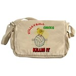 VOLLEYBALL CHICKS Messenger Bag