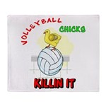 VOLLEYBALL CHICKS Throw Blanket