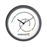 Meaning of Namaste Wall Clock