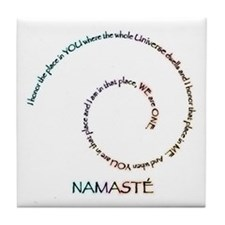 Meaning of Namaste Tile Coaster