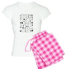 North American Animal Tracks Women's Light Pajamas