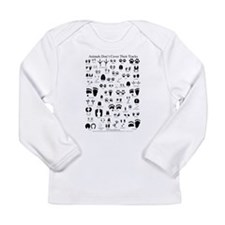 North American Animal Tracks Long Sleeve Infant T-
