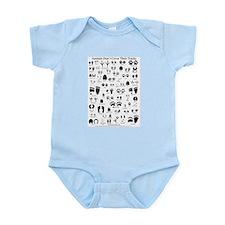 North American Animal Tracks Infant Bodysuit