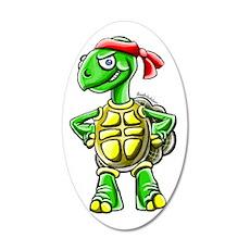Ninja Turtle Tortoise 35x21 Oval Wall Decal