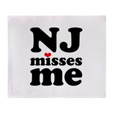 new jersey misses me Throw Blanket