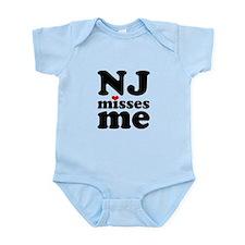 new jersey misses me Infant Bodysuit