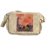 Red Floral Messenger Bag