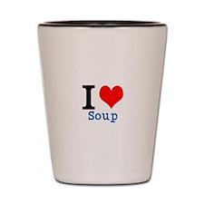 Cute Love soup Shot Glass