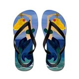 Blond Mermaid Flip Flops