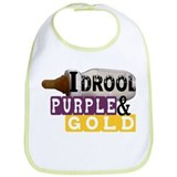 purple & gold Bib