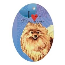 Pomeranian Oval Ornament