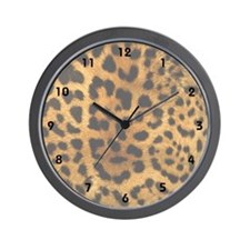 Leopard Print Animal Wall Clock