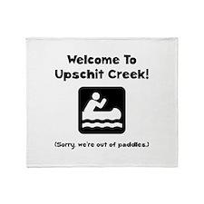 Upschit Creek Throw Blanket