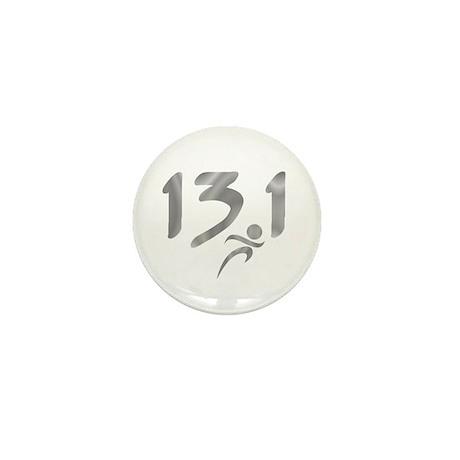 Silver 13.1 half-marathon Mini Button (100 pack)
