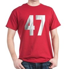 White Big Block 47 T-Shirt