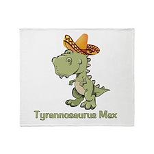 Tyrannosaurus Mex Throw Blanket
