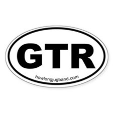 Guitar Sticker (Euro-oval)