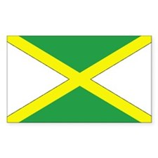Jamaican Flag Rectangle Decal