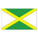 Jamaican Flag Rectangle Stickers