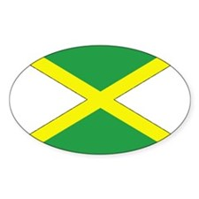 Jamaican Flag Oval Decal