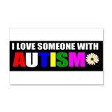 I love someone with autism 3 Car Magnet 20 x 12