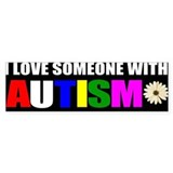I love someone with autism 3 Bumper Stickers