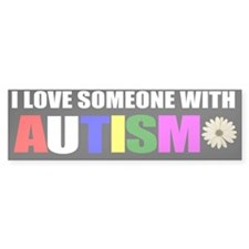 I love someone with autism 3 Car Sticker