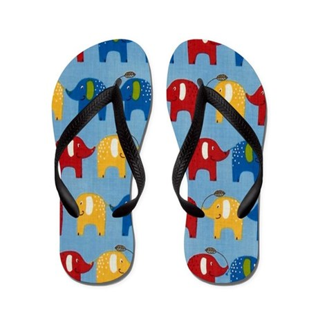 Elephants Summer Flip Flops