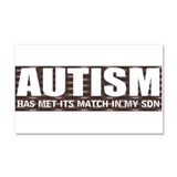 Autism meets its match Car Magnet 20 x 12