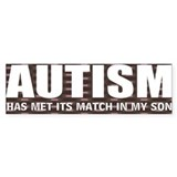 Autism meets its match Car Sticker