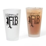 Black FIB logo Drinking Glass