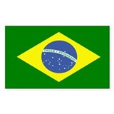 Brazilian Flag Rectangle  Aufkleber